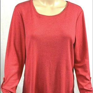 36ea665ed65a8f Tops - Chicos blouse womans size 2 solid red long sleeves